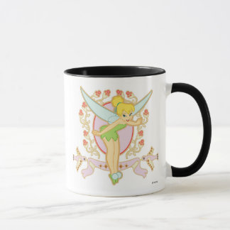 Tinker Bell Floral Frame Disney Mug