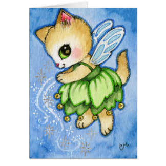 Tinker Bell Kitty - Cute Fairytale Cat Card