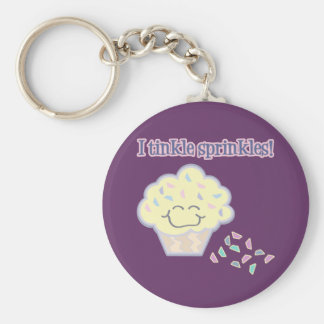 tinkle sprinkles funny cupcake keychains