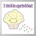 tinkle sprinkles funny cupcake poster