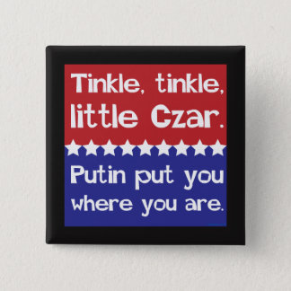 Tinkle Tinkle, Little Czar Red Blue 15 Cm Square Badge