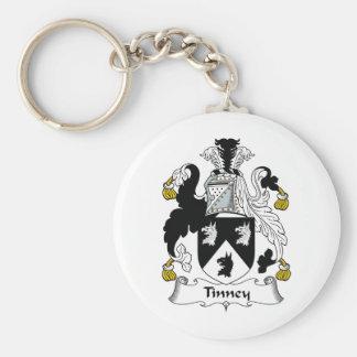 Tinney Family Crest Basic Round Button Key Ring