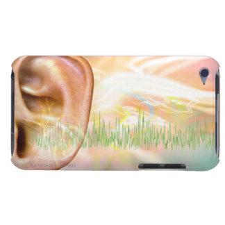 Tinnitus, conceptual computer artwork. iPod Case-Mate cases