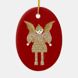 Tinsel Martzkin Ceramic Ornament