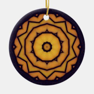 Tinted Glass Kaleidoscope Christmas Ornament