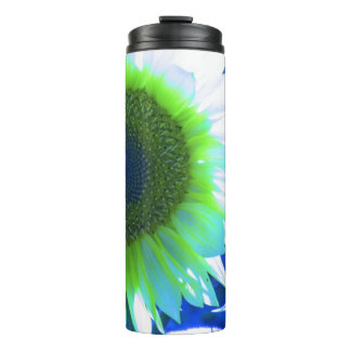 tinted pretty sunflower - blue thermal tumbler