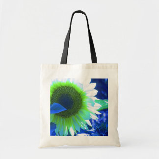 tinted pretty sunflower - blue tote bag