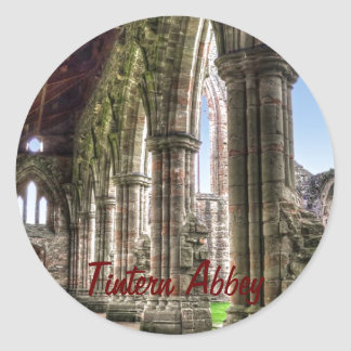 Tintern Abbey, Cistercian Monastery, Wales Round Sticker