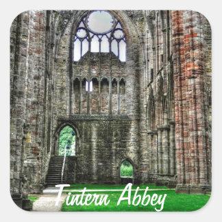 Tintern Abbey, Cistercian Monastery, Wales Square Sticker