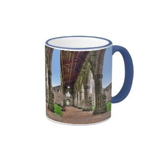 Tintern Abbey Cloisters, Cistercian Monks, Wales Ringer Mug