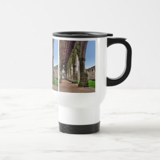 Tintern Abbey Cloisters, Cistercian Monks, Wales Stainless Steel Travel Mug