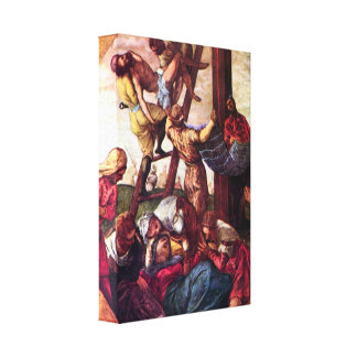 Tintoretto - Descent from the Cross Canvas Print