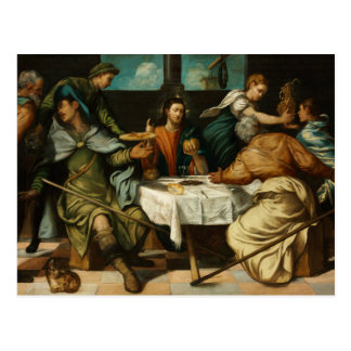 Tintoretto - The Supper at Emmaus Postcard