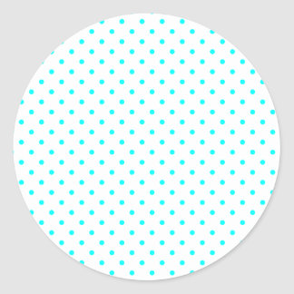 Tiny Aqua Dots Classic Round Sticker