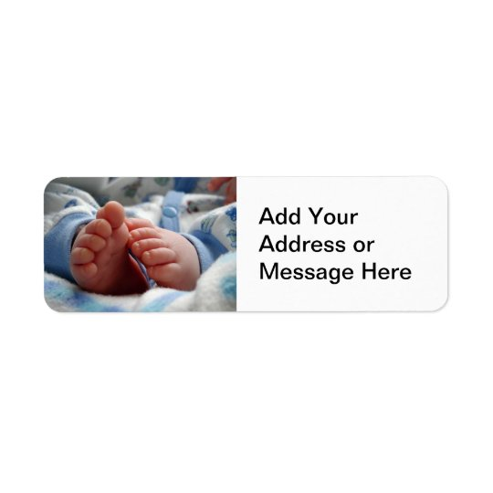Tiny Baby Feet Return Address Label