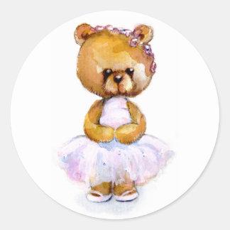 Tiny Ballerina Bear Stickers
