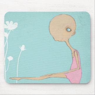 Tiny ballerina dancer mouse pad