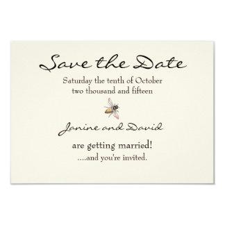 Tiny Bee Wedding Save the Date card 9 Cm X 13 Cm Invitation Card