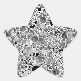Tiny Black Grey Bling Pattern Star Sticker