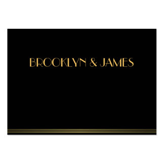 Tiny Black Monogrammed Great Gatsby Wedding RSVP Pack Of Chubby Business Cards