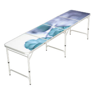 Tiny Blue Flower Pong Table