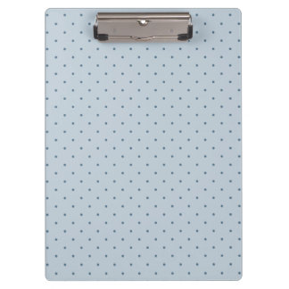 Tiny Blue Polka-Dots on Blue Clipboard