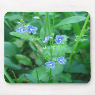 Tiny Blue Wildflowers Mouse Pads