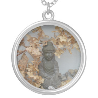Tiny Buddha Silver Plated Necklace