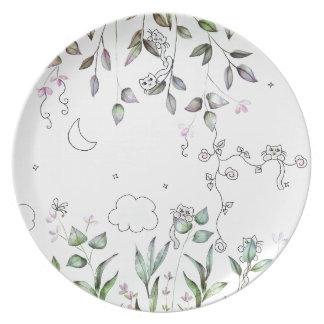 Tiny Cat Garden Plate