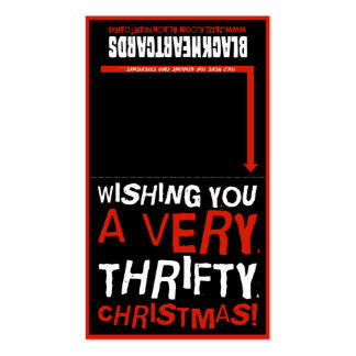Tiny Christmas card - Thrifty Christmas Pack Of Standard Business Cards