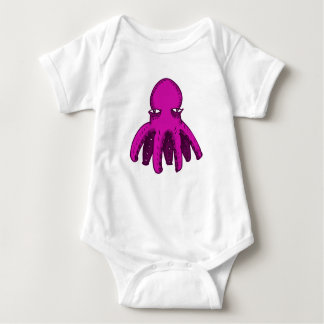 tiny cool octopus funny cartoon baby bodysuit
