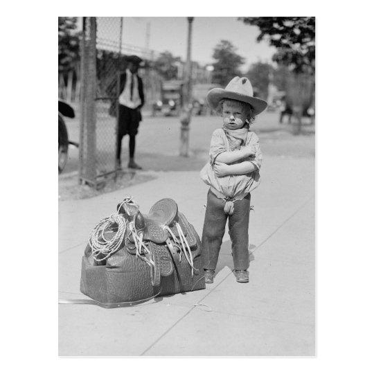 Tiny Cowboy, 1923 Postcard