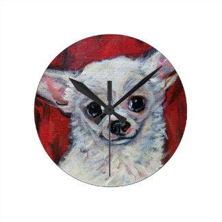 Tiny Cute Chihuahua Smile Wall Clocks
