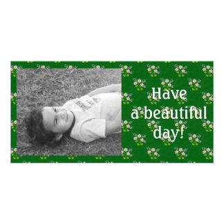 Tiny Daisies Pixel Art Photo Card Template