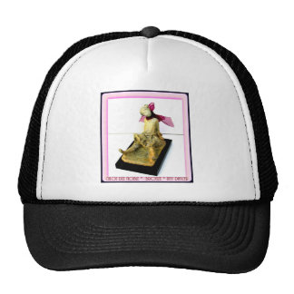 """""""Tiny Dancer: bronze sculpture Mesh Hat"""