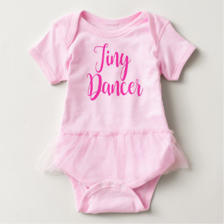 Tiny Dancer with tutu Baby Bodysuit