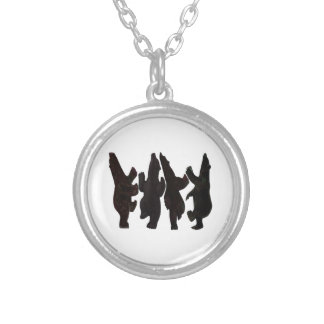 Tiny Dancers Silver Plated Necklace