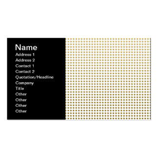Tiny Diamonds Squares Golden Yellow Pattern Business Cards