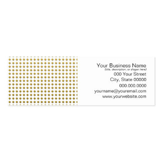 Tiny Diamonds Squares Golden Yellow Pattern Business Card Template