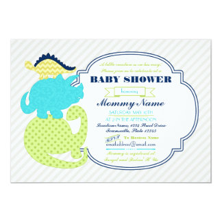 Tiny Dinos Dinosaur Baby Shower Invite