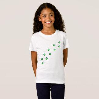 Tiny Dog Pawprints Winter Sky Lights T-Shirt
