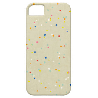 Tiny Dots Rainbow Confetti Sprinkle Print Barely There iPhone 5 Case