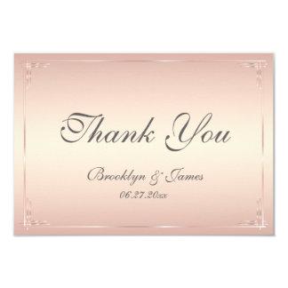 Tiny Elegant Blush Wedding Thank You Card 9 Cm X 13 Cm Invitation Card
