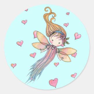 Tiny Fairy and Hearts Stickers