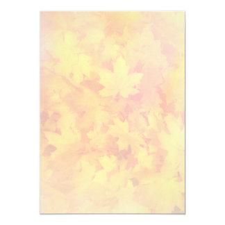 Tiny Fall Leaf Pattern Nature Fan Program Paper 13 Cm X 18 Cm Invitation Card