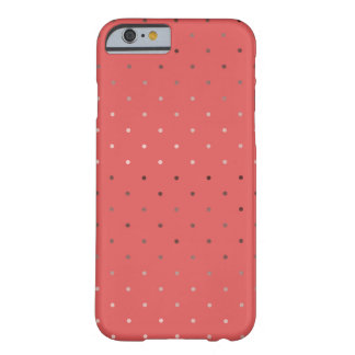 tiny faux rose gold coral polka dots pattern barely there iPhone 6 case