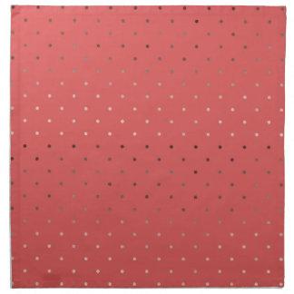 tiny faux rose gold coral polka dots pattern napkin