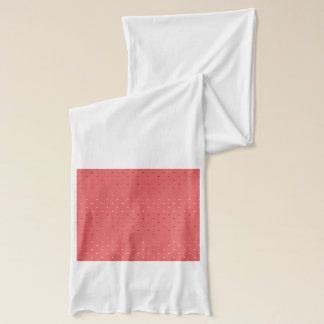 tiny faux rose gold coral polka dots pattern scarf
