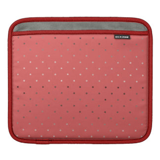 tiny faux rose gold foil coral polka dots pattern sleeve for iPads