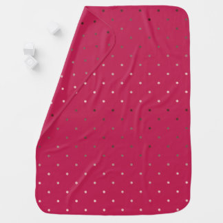 tiny faux rose gold foil pink polka dots pattern baby blanket